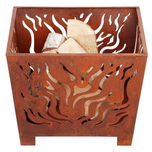 SQUARE RUSTY FIREBASKET (SMALL) – FF161