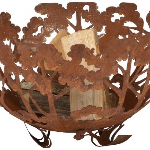 FIRE BOWL LASER CUT WOODLAND – FF262