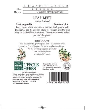 Organic Leaf Beet – Swiss Chard