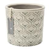 Burgon and Ball Glazed Venetian Pot – Grey, small