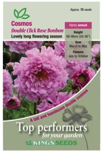 Cosmos Double Click Rose Bon Bon Seeds