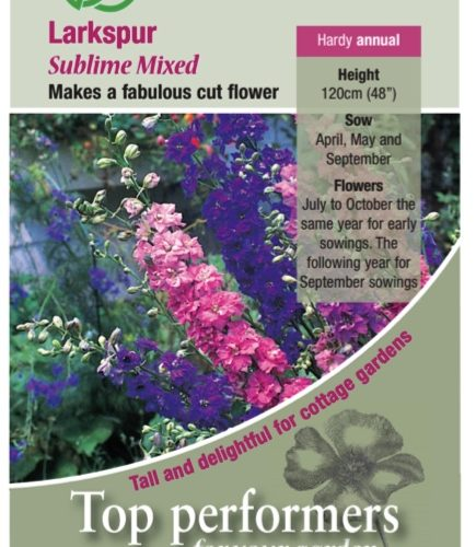 Larkspur Sublime Mixed Seeds