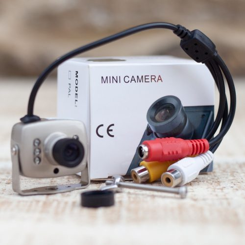 Super mini colour / infrared camera with audio